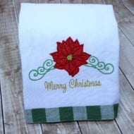 Poinsettia Applique (5x7)