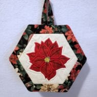 Poinsettia Potholder (7x11)