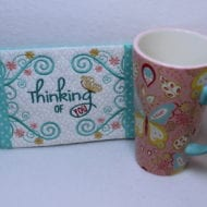 Thinking of You Mug Rug (5x7)