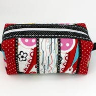 Striped Boxy Zippered Bag PITH (7x11)