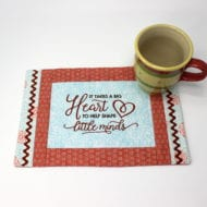 Big Heart Mini Placemat (8x12)