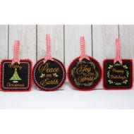 Felt Christmas Ornaments Set 1 (4x4)