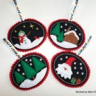 Applique Felt Ornaments (4x4)