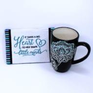 Big Heart Mug Rug (5x7)