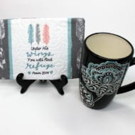 Under His Wings Mug Rug (5x7)