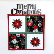 Poinsettia Mini Quilt (7x7)
