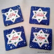 Applique Star Coasters (4x4)