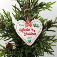 Married Christmas Ornaments (4x4)