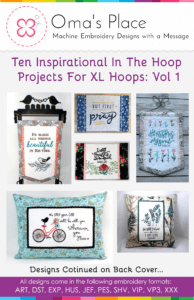 Ten Inspirational In the Hoop Projects for XL Hoops: Vol 1
