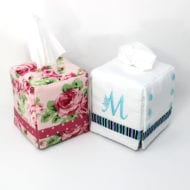 Monogram Tissue Box Covers (5x7)