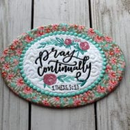 Pray Continually Mug Rug