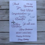 Greeting Card Phrases