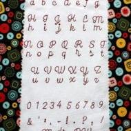 Madre Redwork Font