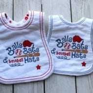 Baseball Bib (XL Hoops)