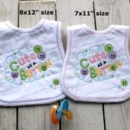 Cute Button Bibs (XL hoops)