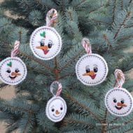 Snow Family Ornaments (4x4)