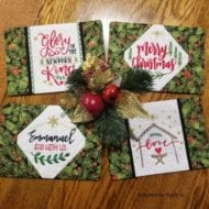 Inspirational Christmas Mug Rug Set